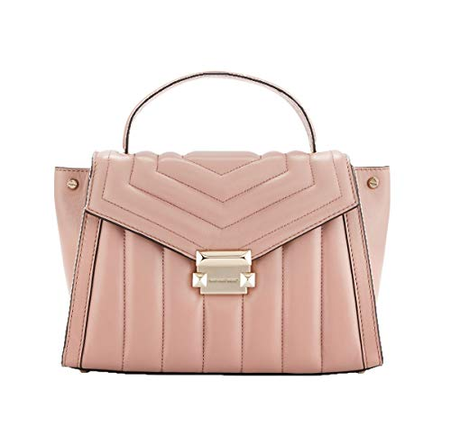 Whitney polished leather top handle satchel | Michael Kors Medium Quilted Whitney Bag Satchel Fawn/Pink
