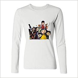 Amazon Com Jonnert Women S Coraline Characters Long Sleeve Cotton T Shirt 7773905500236 Books