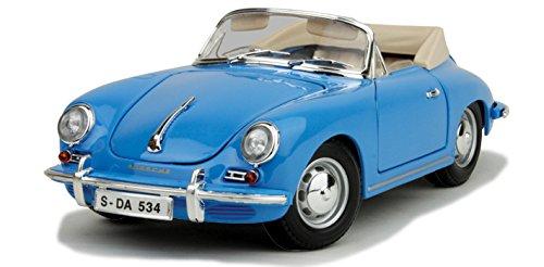 - 12025bu Bburago Gold - Porsche 356b Cabriolet Convertible (1961, 1:18, Blue) 12025 Diecast Car Model Auto Vehicle Die Cast Metal Iron Toy Transport