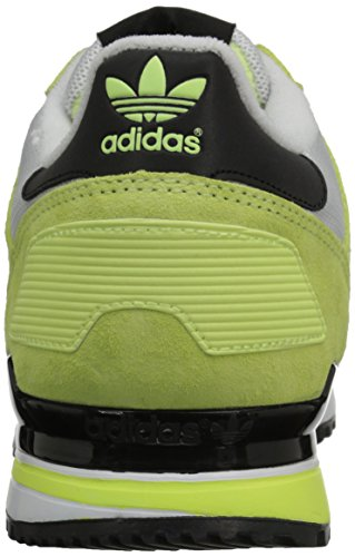 Adidas Originals Zx 700 Lifestyle esecuzione scarpa da tennis, nero / luce solido grigio / nero, 4 M Light Flash Yellow/Core Black/White