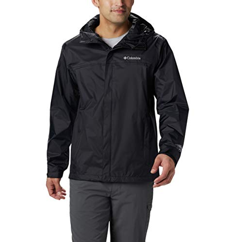 Men Lightweight Jacket - Columbia Men's Watertight II Waterproof, Breathable Rain Jacket, Black, Large