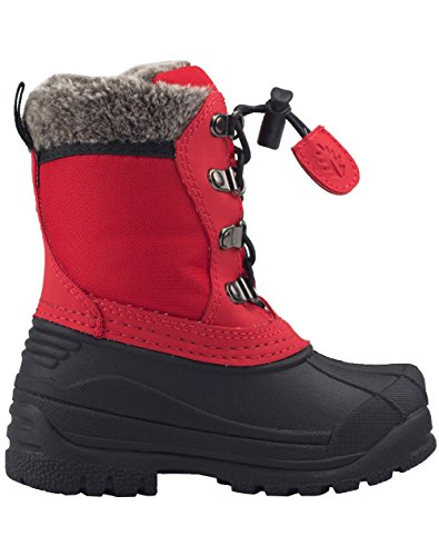 OAKI Kids Snow Boots for Girls and Boys - Youth & Toddler Boots Fur Lined, Waterproof, Insulated Cold Rating -30˚ | Deep Red, 10T US Toddler