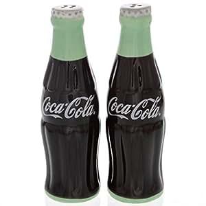 Coca-Cola Ceramic Salt & Pepper Shakers - Shaped Like Coke Bottles by Coca-Cola