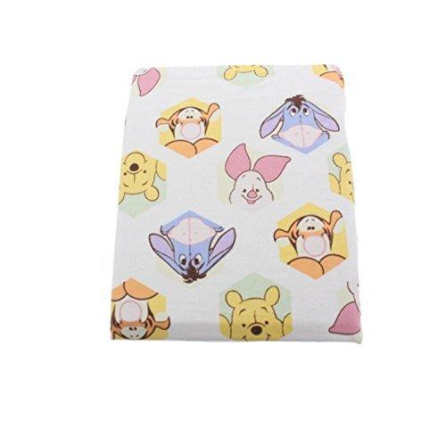 Disney Baby Peeking Pooh Cartoon Nursery Crib Sheet Multi