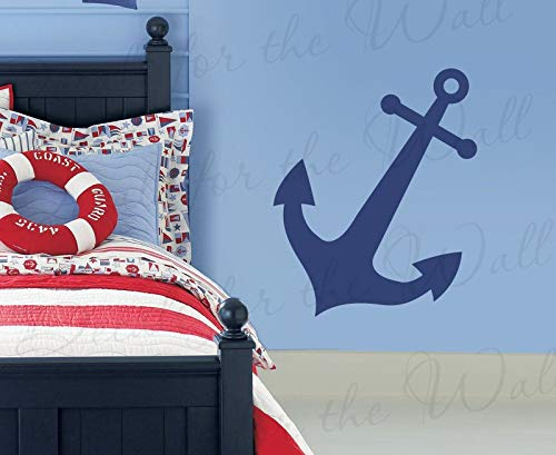 Decals for Boat Anchor Wall Decal Large Sailor Vinyl Graphic Art Sticker Boy Room Kids Playroom Decor Mural Decoration Sign MTX19