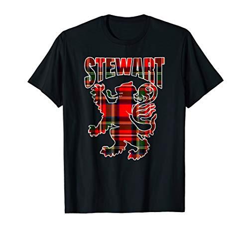 Stewart Clan Kilt Tartan T-Shirt Lion Namesake Scottish ()