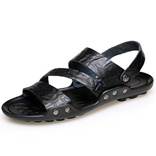 Xing Lin Sandalias De Hombre Zapatillas De Gran Tamaño 50 Hombres Verano Indoor Plus 47 Fertilizante Engrosada Cruz 48 Cool Zapatillas 45 Home 49 Extra Negro 46,47,551