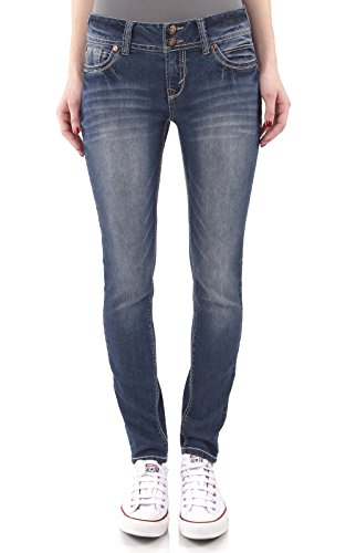 WallFlower Juniors Luscious Curvy Skinny Jeans in Katy Size: 7 (Skinny Flower)