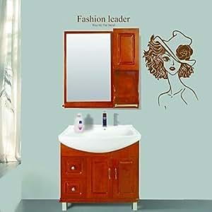 Adhesivos de pared modernos Pegatinas de pared Sra. baño impermeable