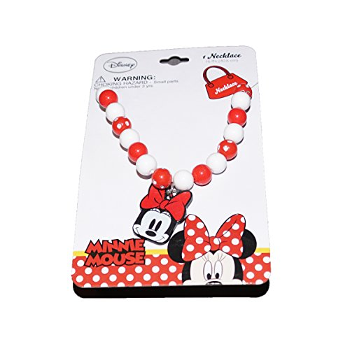 [Disney Minnie Mouse Baby Girls Dress Up Accessory - Bead Necklace in Red] (Daisy Duck Costumes For Toddlers)