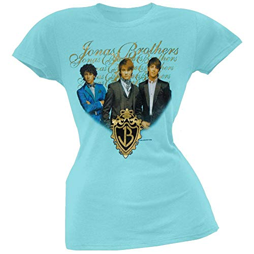 Jonas Brothers - Gold Foil Girls Youth T-Shirt - Large (Brothers Rock Jonas)