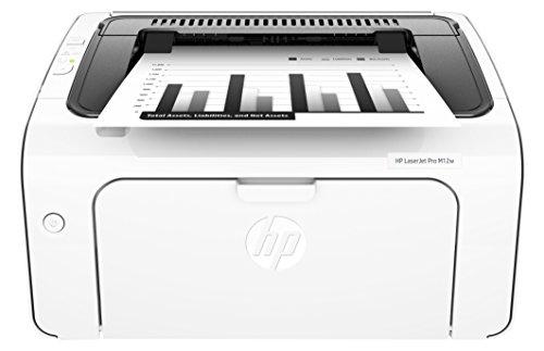 HP LaserJet Pro M12w Schwarzweiß-Laserdrucker (Drucker, WLAN, HP ePrint, Apple Airprint, USB, 600 x 600 dpi) weiß
