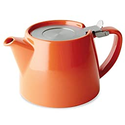 FORLIFE Stump 18-Ounce Teapot with SLS Lid and Infuser, Carrot