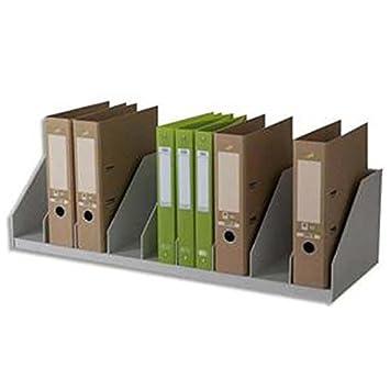 Clasificadores 10 compartimentos fijos para archivadores, tamaño estándar L89,7 x H21 P29 x cm, color gris: Amazon.es: Oficina y papelería