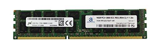 (Adamanta 16GB (1x16GB) Server Memory Upgrade for Dell Poweredge & Precision Servers Micron Original DDR3L 1600Mhz PC3L-12800 ECC Registered 2Rx4 CL11 1.35v DRAM RAM)