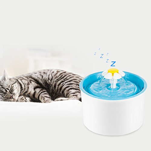 Price comparison product image Coldgirl Pet Water Fountain,  Automatic Electric Fresh Filter For Cat Drinking (Blue)