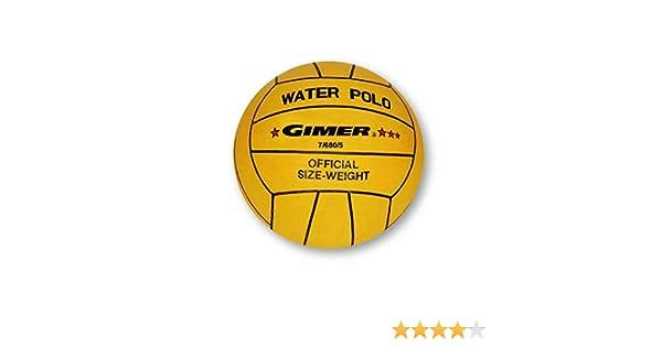 GIMER Waterpolo, balón para Hombre, Amarillo, Número 5: Amazon.es ...