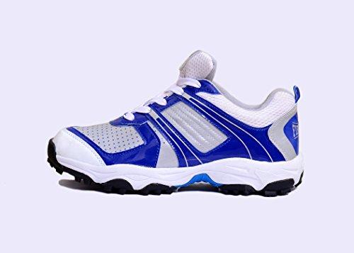 M & M Mars scarpa da cricket bianco & blu lucciola Warrior