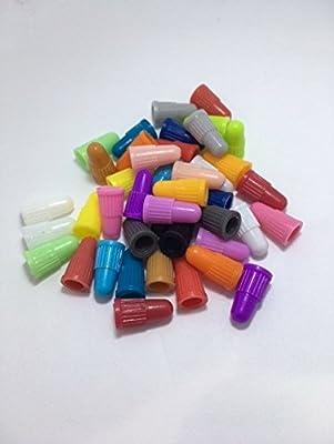 BCM Plastics Bicycle Presta Valve Caps (42 Count Presta Cap Bag/Multi-Color)