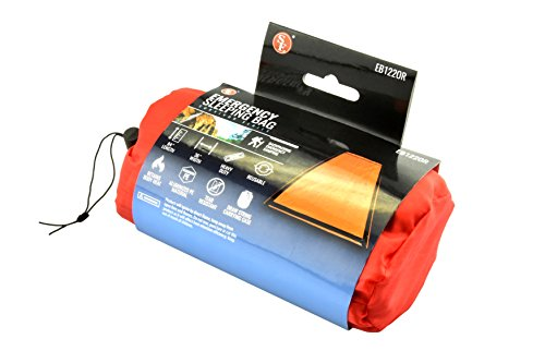 SE EB122OR Emergency Sleeping Bag Kit with Drawstring Carrying Bag, Orange, Survial Blanket