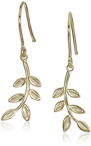 14k Yellow Gold Leaf Earring 14k Yellow Gold Leaf Earrings