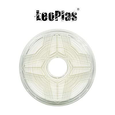 LeoPlas New Store USA Spain China Warehouse Global Shipping 1.75mm White PP Filament 2 Colors 1Kg 2.2 Pounds FDM 3D Printer Pen Supplies Plastic Printing Material Polypropylene