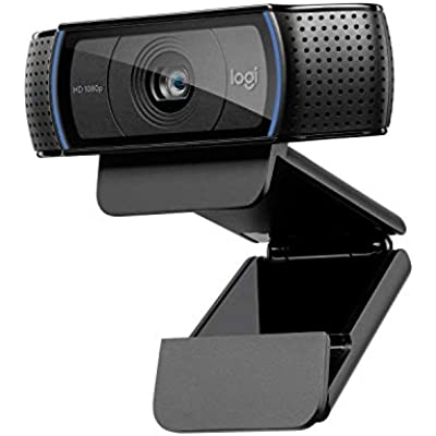 Logitech C920 Pro Webcam  Full 1080p 30fps Video Calling  Clear Stereo Audio  Light Correction  Works with Skype  Zoom  FaceTime  Hangouts  PC Mac Laptop Macbook Tablet Black