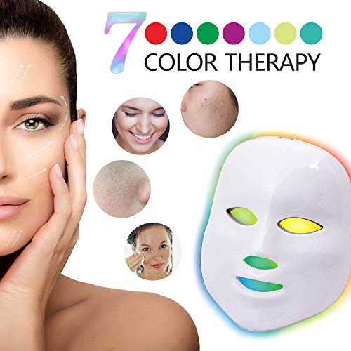 Led Face Mask - Angel Kiss 7 Color Photon Blue Red Light Therapy Skin Rejuvenation Facial Skin Care Mask by Angel Kiss (Image #4)
