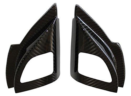 Carbon Fiber Racing, MEC487100CF, 100% Carbon Fiber Mitsubishi Lancer Evolution X (Evo 10) Tweeter Speaker Covers (Front Doors) (2 - Lancer Oem Evo Carbon Fiber