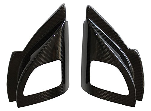 Carbon Fiber Racing, MEC487100CF, 100% Carbon Fiber Mitsubishi Lancer Evolution X (Evo 10) Tweeter Speaker Covers (Front Doors) (2 pieces)