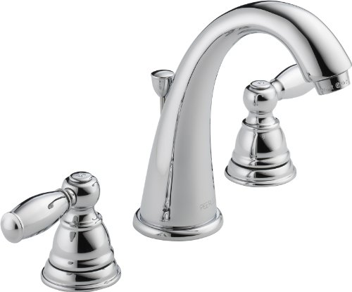 Peerless Claymore 2-Handle Widespread Bathroom Faucet with Pop-Up Drain Assembly, Chrome - Brushed 2 Handle Chrome