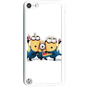 Despicable Me Minions Apple iPod Touch iTouch 5th Generation Hard Plastic Black or White cases (White)