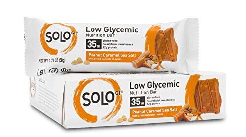 Peanut Caramel Sea Salt, Low Glycemic Protein Bars,Gluten Free,Slow Energy Release, Weight Management, Bars for Pre and…