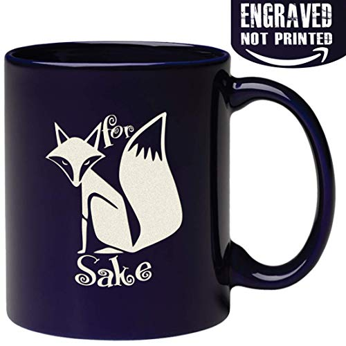 Engraved Funny Mug - Fox Sake -Unique Fox Themed Birthday Gifts For Men or Women, Fox Lover Gifts For Him or Her Idea For Office Coworker and Best Friend