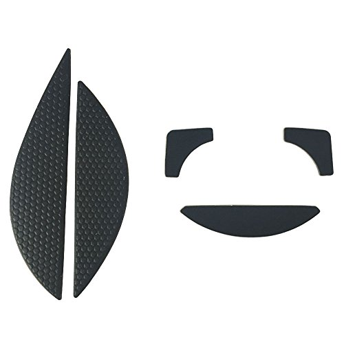 (HUIYUN The Mouse Side Stickers Mice Antiskid & Feet Skates Teflon for Razer DeathAdder 2013 RZ01-0084 Chroma Multi-Color Ergonomic RZ01-0121 Gaming Mouse)