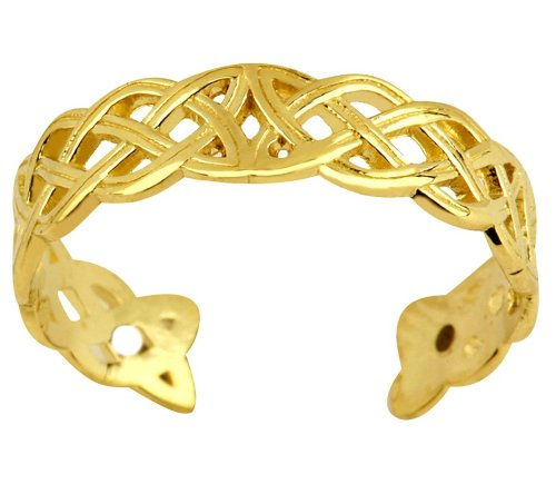 Classic 14k Gold Trinity Toe Ring by More Toe Rings (Image #2)