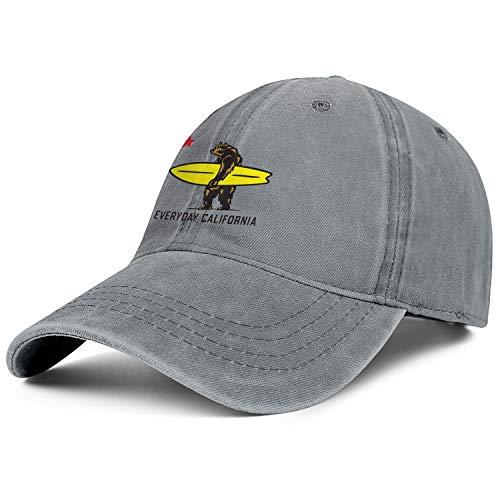 MMDEA California Bear Surf Men Women's Washed Baseball Cap Twill Adjustable Snapback Beach Hat One Size]()