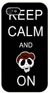"iPhone 6 (4.7"") Keep Calm and skull on - black plastic case / Keep Calm, Motivation and Inspiration"