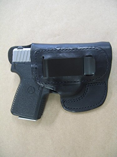 Kahr P380, CT380. CW380 IWB Molded Leather Inside Waistband Concealed Carry Holster BLACK RH