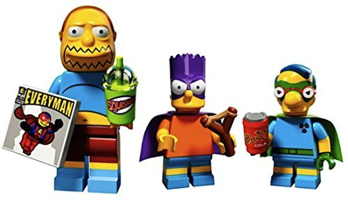Comic Book Guy, Bart As Bartman, Milhouse As Fallout Boy: Lego Simpsons Collectible Minifigures Series 2 Custom Bundle 71009]()