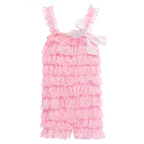 5de6b51cd08 Cutie Baby Baby Girls  Lace Ruffle Romper Medium Baby Pink - Buy Online in  Oman.