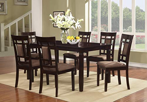 Cherry Dining Set Solid Room - The Room Style 7 piece Cherry Finish Solid Wood Dining Table Set