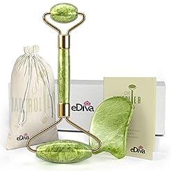 eDiva Natural Jade Roller- Gua Sha - Lym...