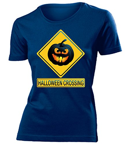 Comedy - Halloween Crossing Cooles Fun mujer camiseta Tamaño S to XXL varios colores Marina