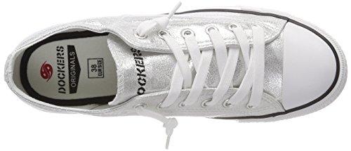 Dockers by Gerli Unisex-Kinder 38ay662-700550 Sneaker Silber (Silber 550)