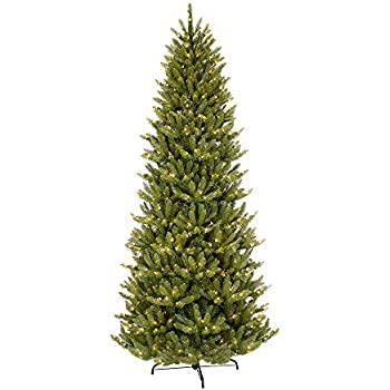 Amazon.com: Puleo International 7.5 ft. Pre-Lit Slim Fraser Fir 500 ...