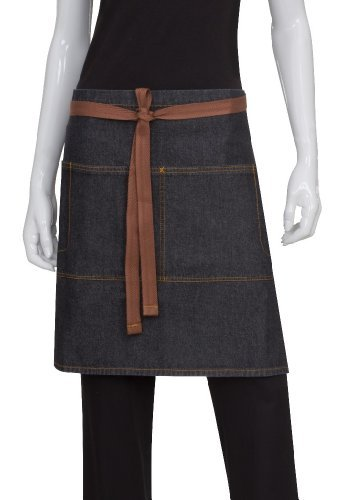 Chef Works AW048-BLK-0 Memphis Half Bistro Apron, Black by CHEGC by Chef Works