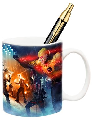 Icon Heroes DC TV Super Heroes Fight Club Mug Pen Holder