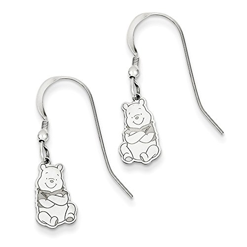 Disney Winnie the Pooh Dangle Wire Earrings Sterling Silver