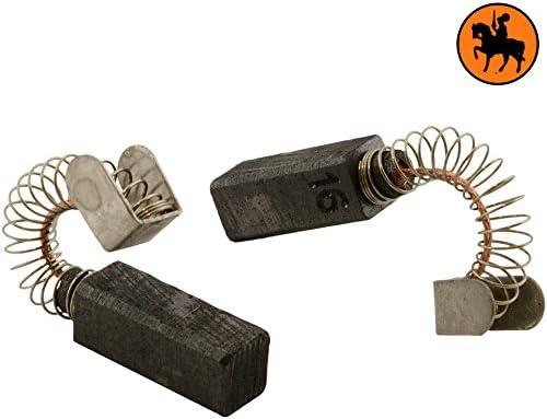 6,4x6,4x16mm Avec arr/êt automatique 2.4x2.4x6.3 Balais de Charbon pour METABO HO0882 rabot